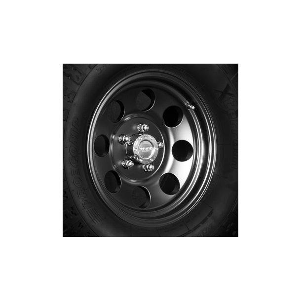 Felg ASP 1430 7x15 5x114,3 ET0 black - TUV-godkjent - Jeep Wrangler YJ
