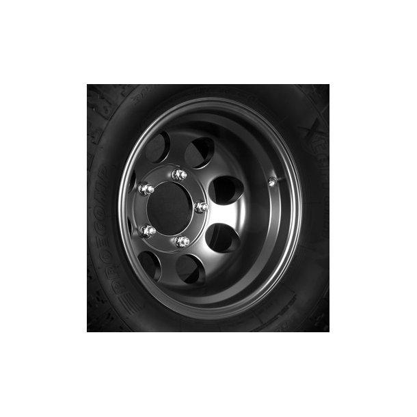 Felg ASP 1430 10x15 5x139,7 ET-42 black - TUV-godkjent - Jeep CJ 76 - 86