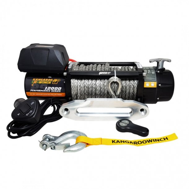 Vinsj Kangaroowinch 12000 (5443kg) Performance Series 12V Syntetisk