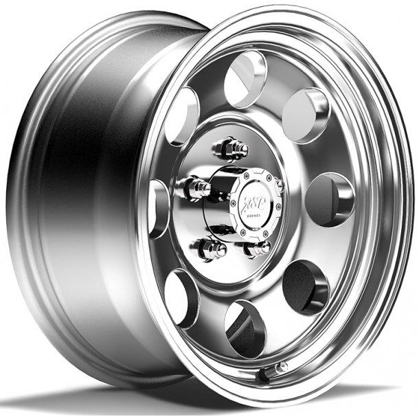 Felg ASP 1430 7x15 5x114,3 ET0 polished - TUV-godkjent - Jeep Wrangler YJ