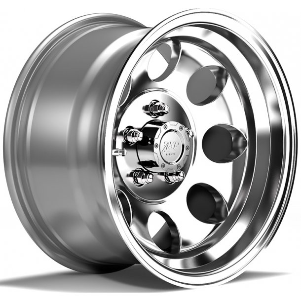 Felg ASP 1430 8x15 5x114,3 ET-20 polished - TUV-godkjent - Jeep Wrangler TJ