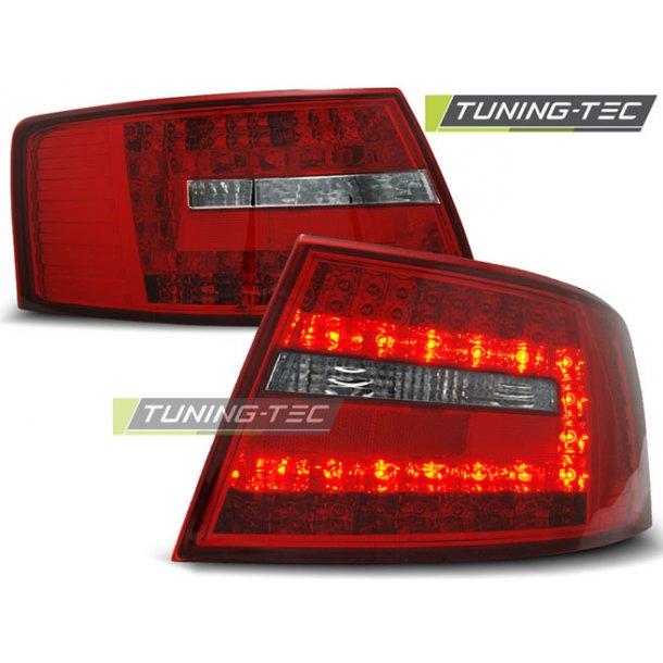 Baklykter AUDI A6 C6 SEDAN 04.04-08 6-pin RED WHITE LED