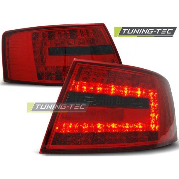 Baklykter AUDI A6 C6 SEDAN 04.04-08 6-pin RED SMOKE LED
