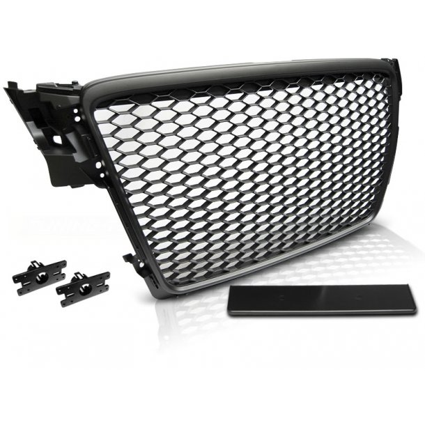 Grill AUDI A4 B8 08-11 BLACK RS-STYLE