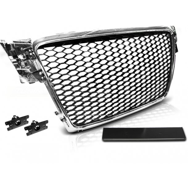 Grill AUDI A4 B8 08-11 CHROME RS-STYLE