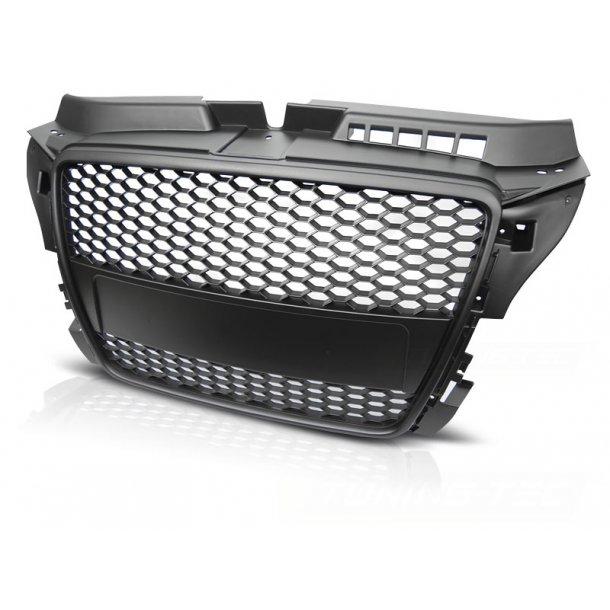Grill AUDI A3 (8P) RS-TYPE 04.08-07.12 MATT BLACK