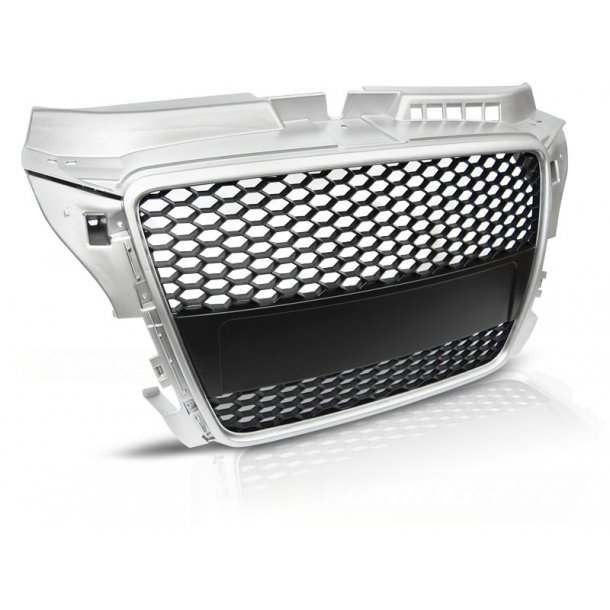Grill AUDI A3 (8P) RS-TYPE 04.08-07.12 SILVER