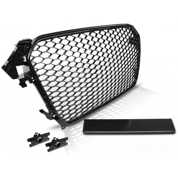 Grill AUDI A4 (B8) RS-TYPE 11.11-15 GLOSSY BLACK