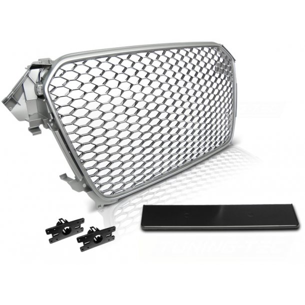 Grill AUDI A4 (B8) RS-TYPE 11.11-15 SILVER