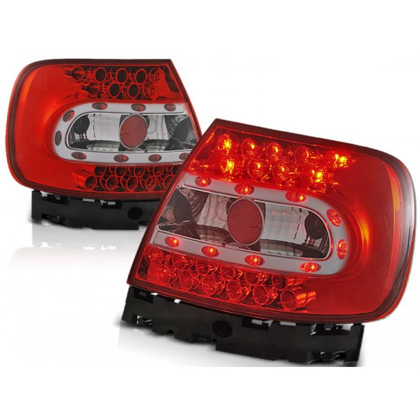 Baklykter AUDI A4 B5 11.94-10.00 RED WHITE LED