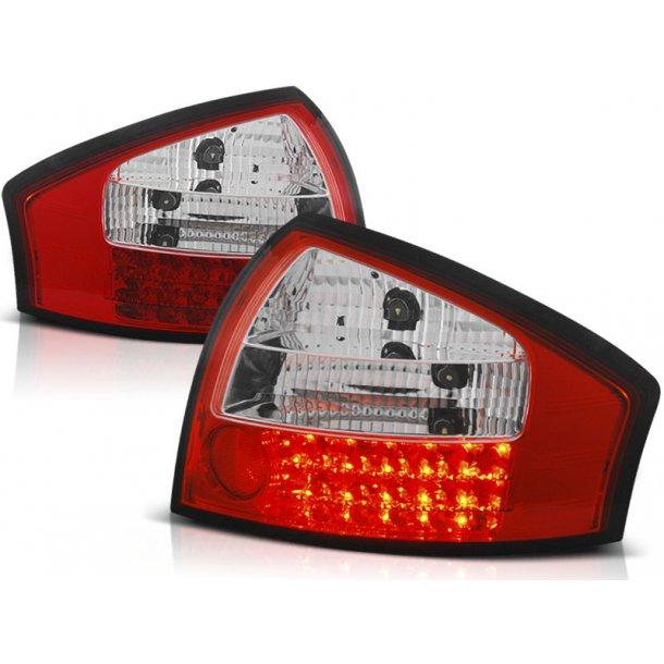 Baklykter AUDI A6 05.97-05.04 RED WHITE LED