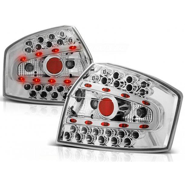 Baklykter AUDI A4 8E 10.00-10.04 SEDAN CHROME LED