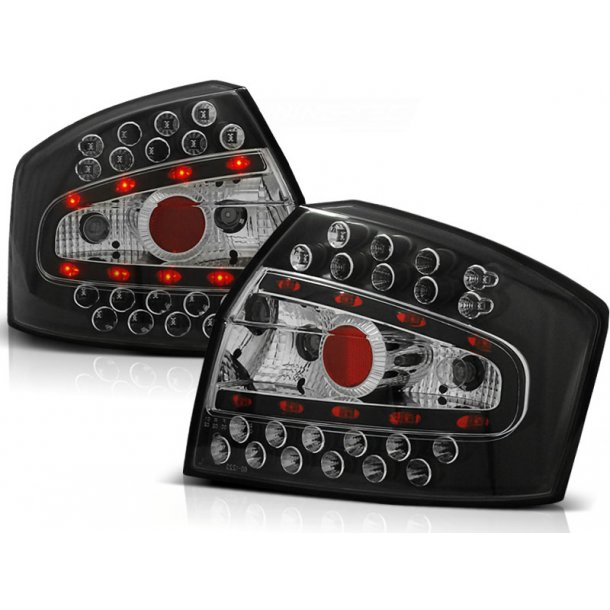 Baklykter AUDI A4 8E 10.00-10.04 SEDAN BLACK LED