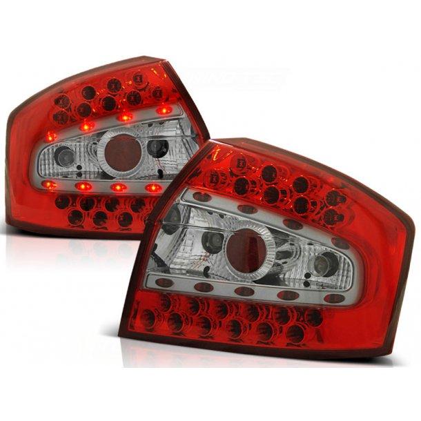 Baklykter AUDI A4 8E 10.00-10.04 SEDAN RED WHITE LED