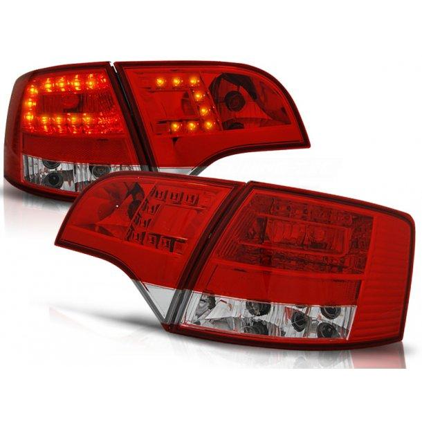 Baklykter AUDI A4 B7 11.04-03.08 RED WHITE LED