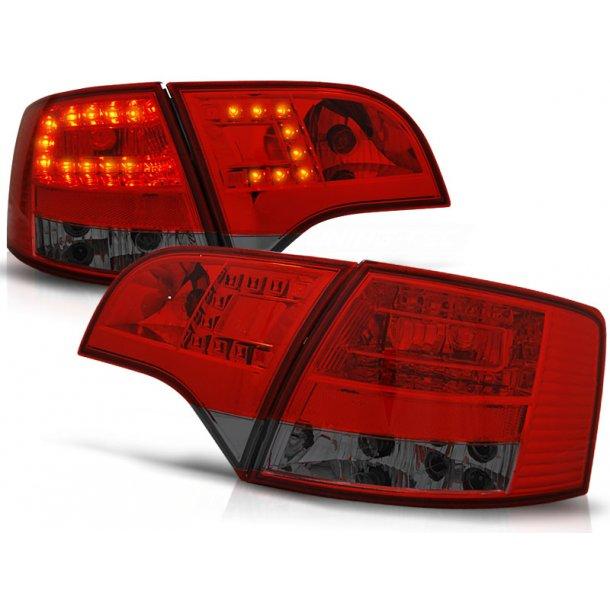 Baklykter AUDI A4 B7 11.04-03.08 AVANT RED SMOKE LED