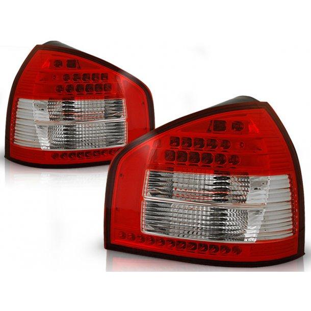 Baklykter AUDI A3 08.96-08.00 RED WHITE LED
