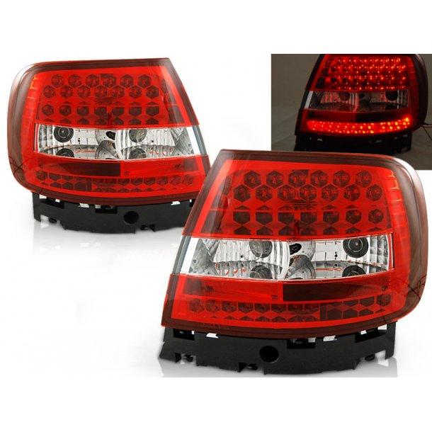 Baklykter AUDI A4 11.94-09.00 RED WHITE LED