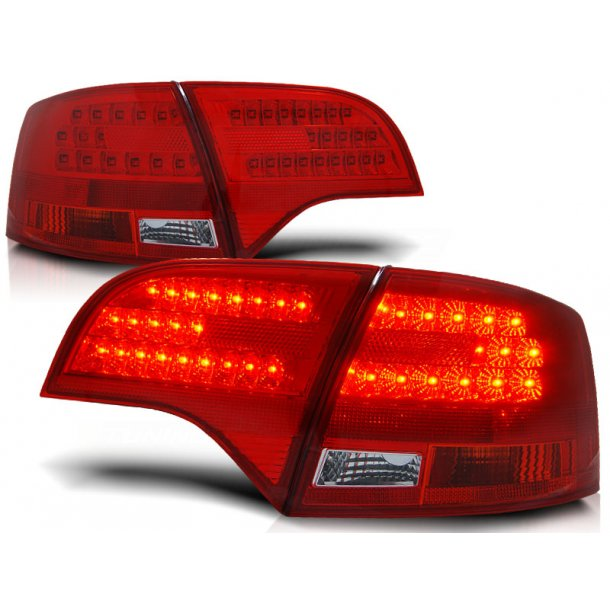Baklykter AUDI A4 B7 11.04-03.08 AVANT RED WHITE LED
