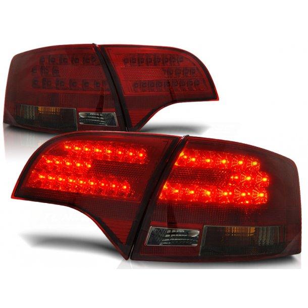 Baklykter AUDI A4 B7 11.04-03.08 RED SMOKE LED
