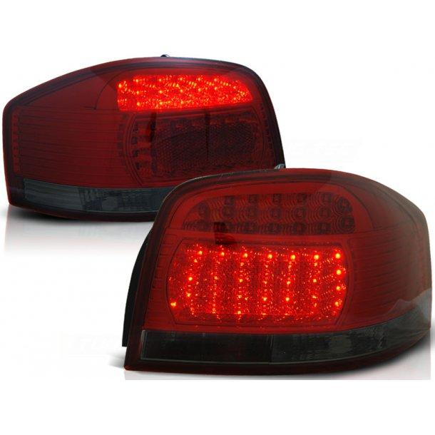Baklykter AUDI A3 05.03-08 RED SMOKE LED