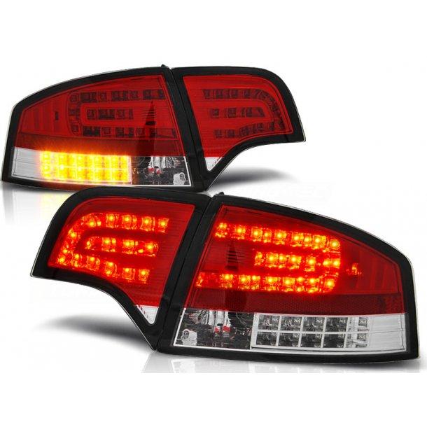 Baklykter AUDI A4 B7 11.04-03.08 SEDAN RED WHITE LED