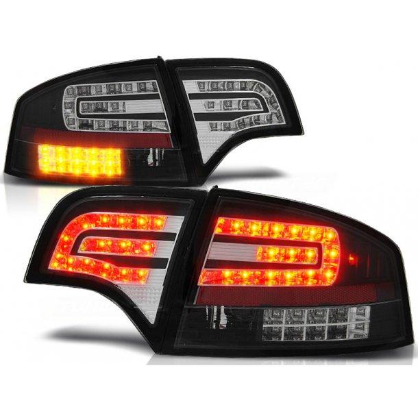 Baklykter AUDI A4 B7 11.04-03.08 SEDAN BLACK LED