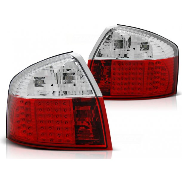 Baklykter AUDI A4 10.00-10.04 LIMOUSINE RED WHITE LED