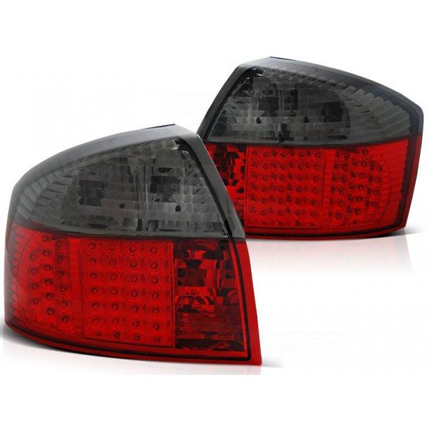 Baklykter AUDI A4 10.00-10.04 RED SMOKE LED