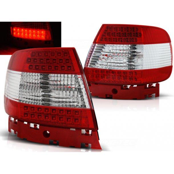 Baklykter AUDI A4 11.94-09.00 RED WHITE LED V2