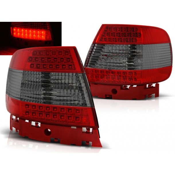 Baklykter AUDI A4 11.94-09.00 RED SMOKE LED