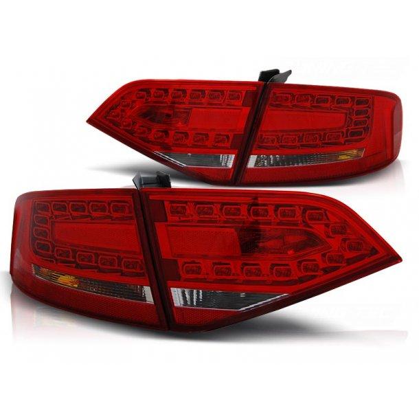 Baklykter AUDI A4 B8 08-11 SEDAN RED WHITE LED