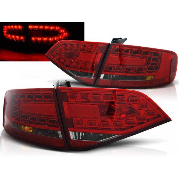 Baklykter AUDI A4 B8 08-11 SEDAN RED SMOKE LED