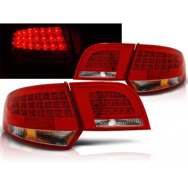 Baklykter AUDI A3 8P 04-08 SPORTBACK RED WHITE LED