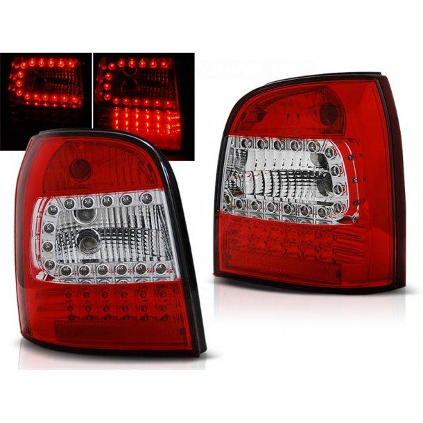Baklykter AUDI A4 94-01 AVANT RED WHITE LED