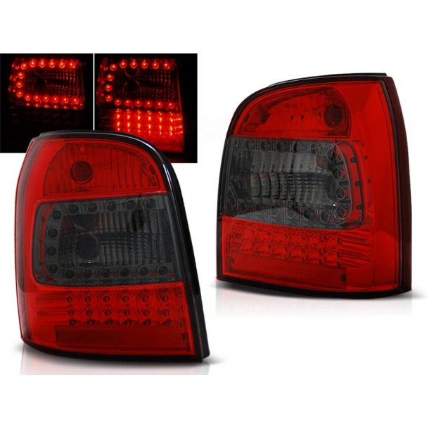 Baklykter AUDI A4 94-01 AVANT RED SMOKE LED