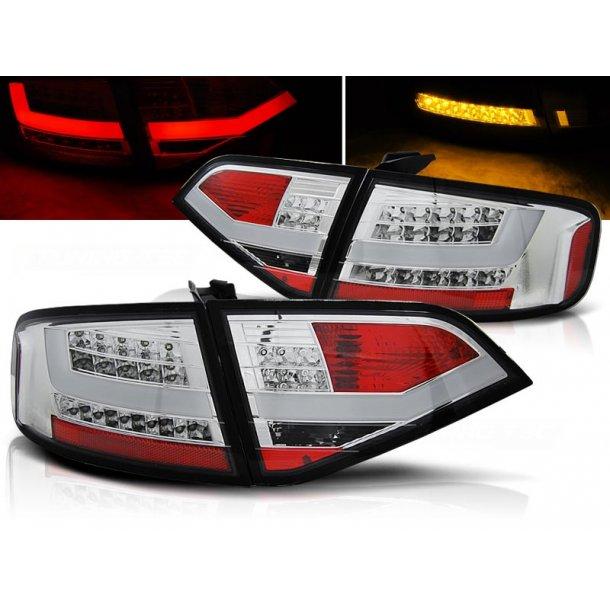 Baklykter AUDI A4 B8 08-11 SEDAN CHROME LED