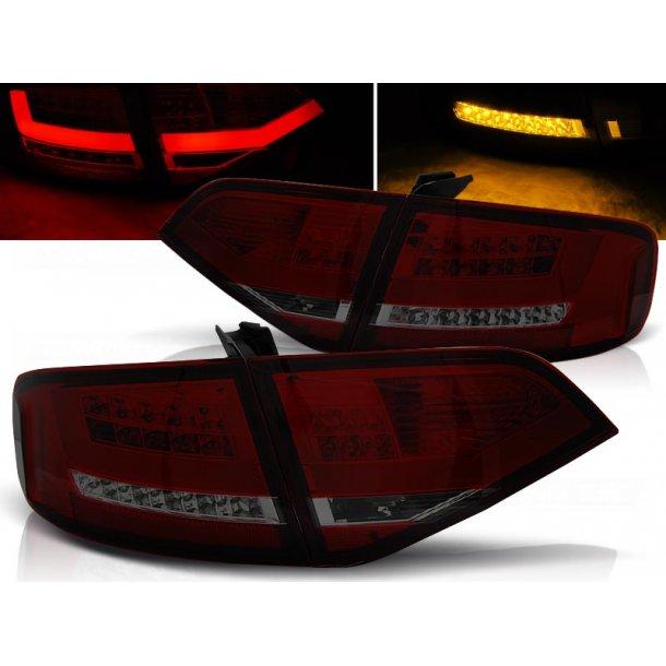 Baklykter AUDI A4 B8 08-11 SEDAN RED SMOKE LED BAR