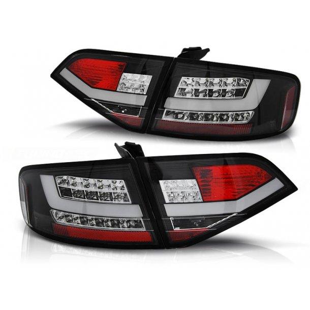 Baklykter AUDI A4 B8 08-11 SEDAN BLACK LED