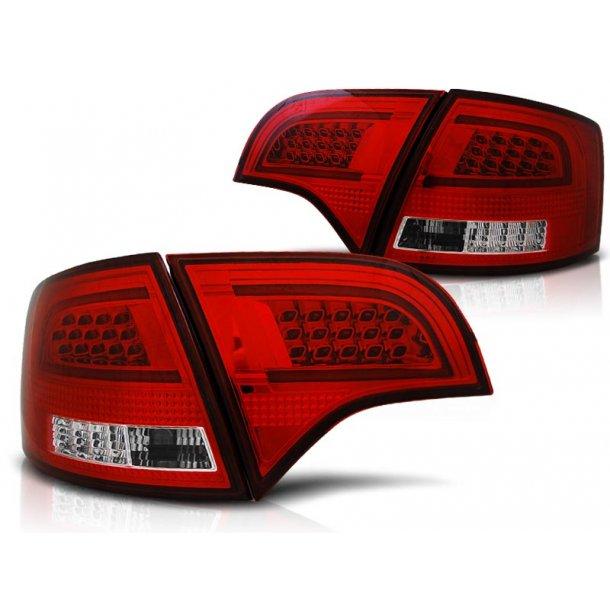 Baklykter AUDI A4 B7 11.04-03.08 AVANT RED WHITE LED BAR