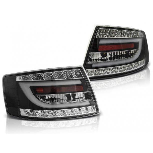 Baklykter AUDI A6 C6 SEDAN 04.04-08 BLACK LED 6PIN