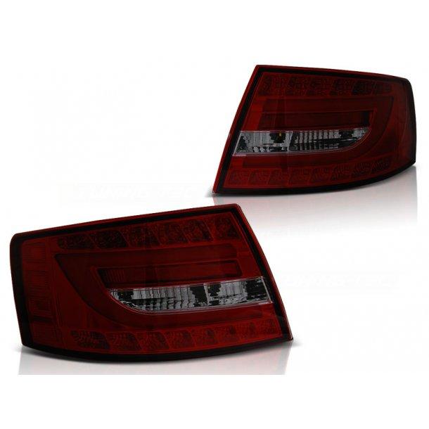 Baklykter AUDI A6 C6 SEDAN 04.04-08 RED SMOKE LED 6PIN