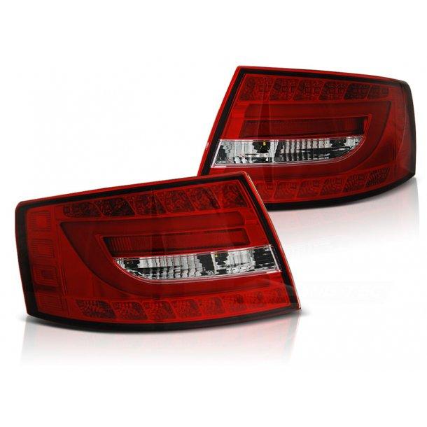 Baklykter AUDI A6 C6 SEDAN 04.04-08 RED WHITE LED 7PIN