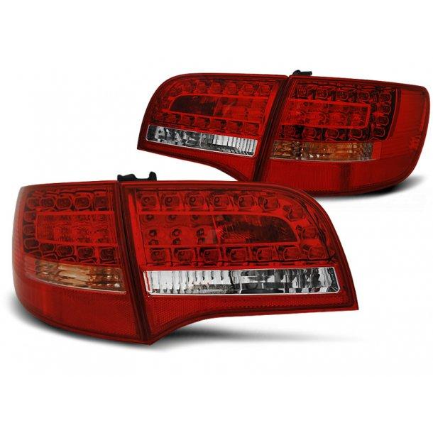 Baklykter AUDI A6 C6 05-08 AVANT RED WHITE LED