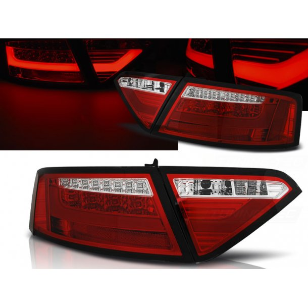 Baklykter AUDI A5 07-06.11 COUPE RED WHITE LED BAR