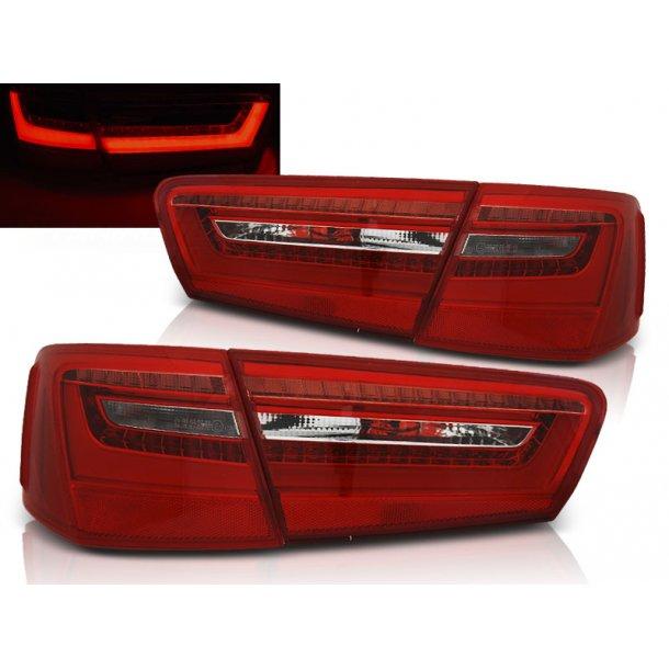Baklykter AUDI A6 C7 11-10.14 RED WHITE LED