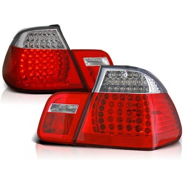 Baklykter BMW E46 05.98-08.01 RED WHITE LED