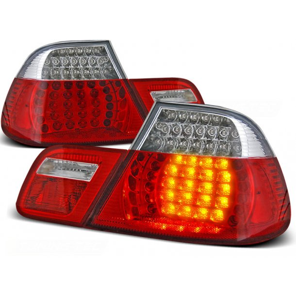 Baklykter BMW E46 04.99-03.03 COUPE RED WHITE LED