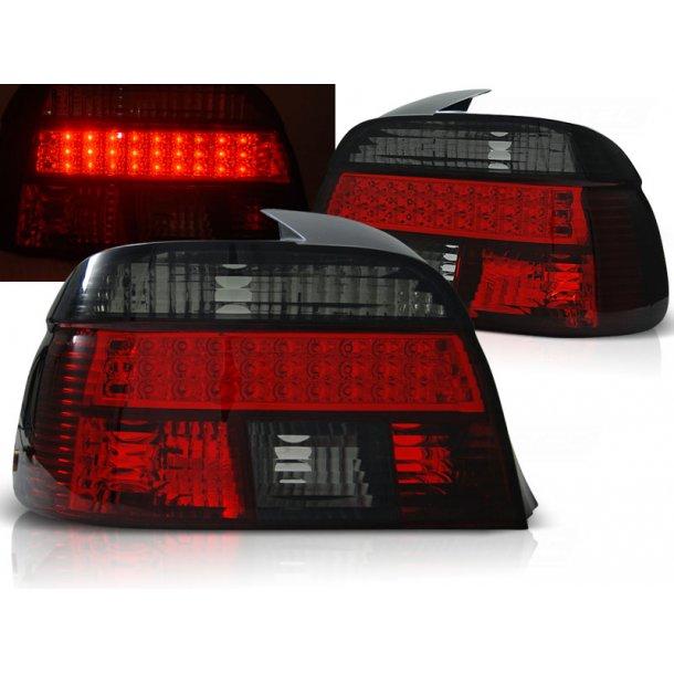 Baklykter BMW E39 09.95-08.00 RED SMOKE LED