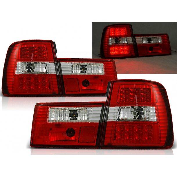 Baklykter BMW E34 02.88-12.95 RED WHITE LED